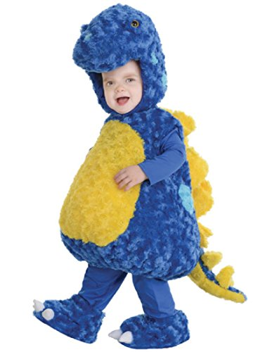 Home Made Dinosaur Costumes (Underwraps Baby's Stegosaurus Belly, Blue/Yellow, Large)