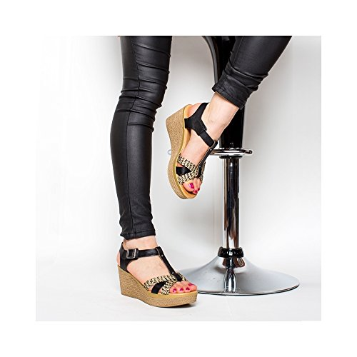 Schwarz Clogs Pantoletten Damen Design Minka qOvAx