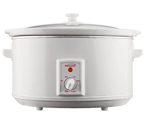 Brentwood - SC-165W 8 qt. Slow Cooker - White by Brentwood Appliance Inc