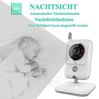 EYSAFT Babyphone mit Kamera Video Baby Monitor 3.2 Zoll Babyfon mit Talk Back und Temperaturüberwachung,Nachtsichtkamera,Schlaflieder,Nachtsicht, Intercom-Funktion VOX 4
