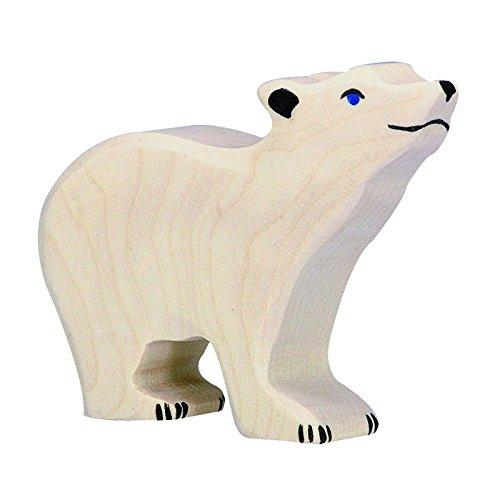 Holztiger Little Polar Bear Heads Up Toy Figure