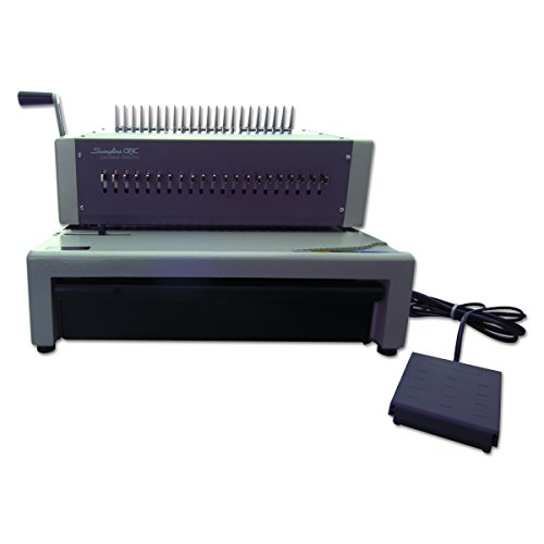 Gbc Comb Binding Machine - Swingline GBC Binding Machine, Electric, Binds 500 Sheets, Punches 25 Sheets, CombBind C800PRO (27170)