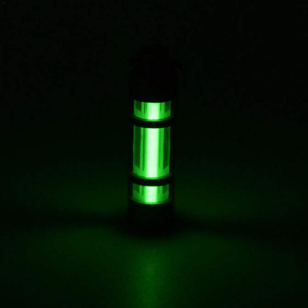 Porte-cl/és Lumineux avec Lampe Fluorescente cathodique Lanterne de Camping en Alliage titanique /à LED heirao4072 Lampe de Secours Lampe /à gaz tritium ext/érieure