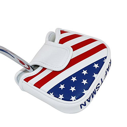 Craftsman Golf Stars and Stripes USA AMERICA Square Heel Shafted Mallet Putter Cover Headcover For TaylorMade Golf 2017 Spider Tour Putter,Scotty Cameron Odyssey 2Ball (Square Head Hybrid)
