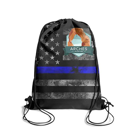 Arches National Park Unisex Drawstring Bag Awesome Waterproof Stadium Sports Backpack