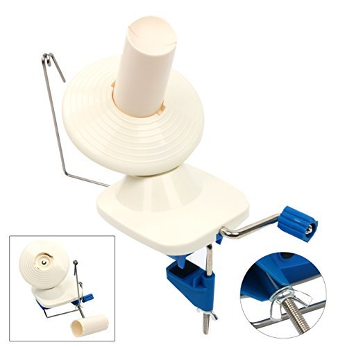 YaeTek Hand-Operated Yarn Ball Winder - Manual Wool Winder Holder for Swift Yarn Fiber String Ball