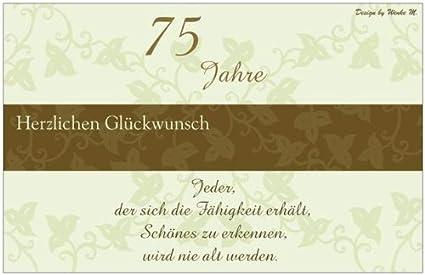 75 Jahre 75. Geburtstag Happy Birthday Sprüchekarte Maxikarte Sprüche  Spruch Geburtstagskarte Dankeskarte Danke Karte Einladungskarte Einladung  Grußkarte ...