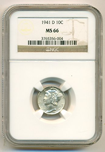 1941 D Mercury Dime MS66 NGC