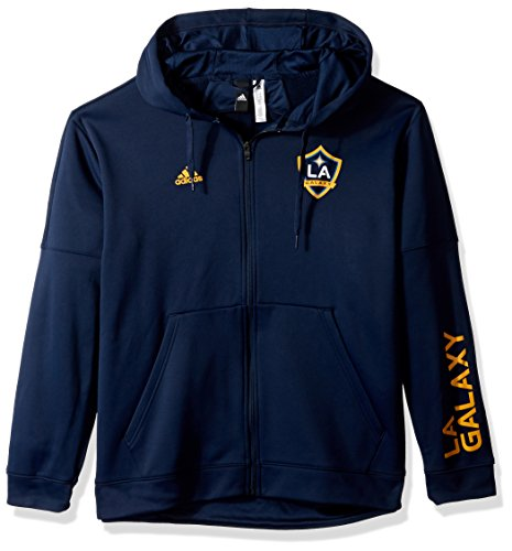 adidas MLS Los Angeles Galaxy Adult Men Armed Team Issue Full Zip Hood, XX-Large, Collegiate Navy Adidas Lined Shorts