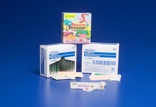 CURITY Adhesive Bandages * Type - 3/4 x 3