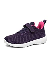 BLITYA Little Kids Tennis Running Shoes - Breathable Lightweight Athletic Walking Shoes Fashion Sneakers for Boys and Girls