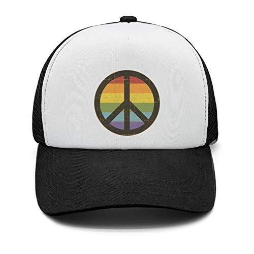 - Baseball Cap Rainbow Peace Sign (2) Snapbacks Truker Hats Unisex Adjustable Fashion Cap
