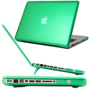 iPearl mCover Hard Shell Case with FREE keyboard cover for Model A1278 13-inch Regular display Aluminum Unibody MacBook Pro - (13.3-inch diagonal screen, GREEN Keyboard)