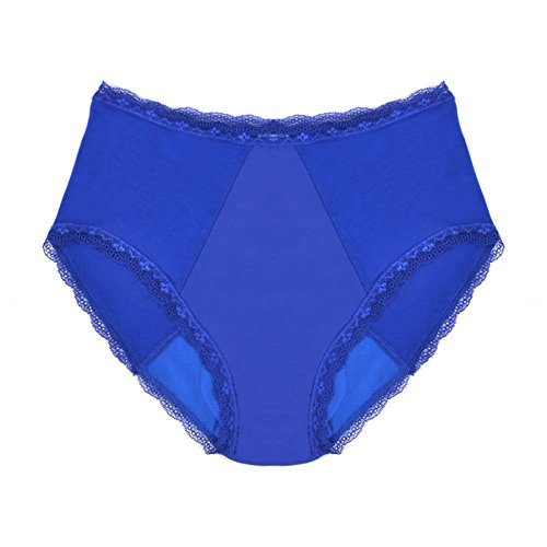 Womens Incontinence Underwear Full Brief Bamboo -Blue-L-Ligh