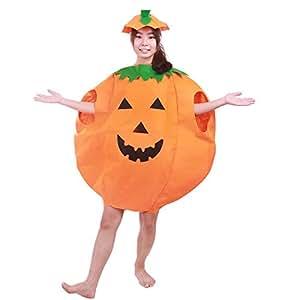 Unisex Vestido de Lujo de Calabaza para el Partido de Disfraces de Halloween, Calabaza de Halloween Traje de Cosplay para la decoración Masquerade (Adulto)