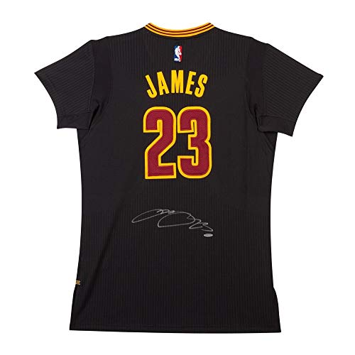 (LeBron James Signed Autographed Authentic Jersey Pride Black Cavaliers UDA)