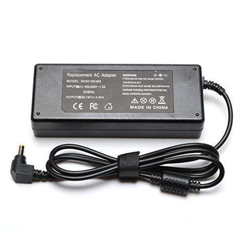 - 75W 19V 3.95A AC Adapter Charger for Toshiba Satellite C50 C55 C55D C655D C75D C855D C875 L505-S6959 L300 L505 L505D L555D L645 L655 L675 L750 P755 L855 L875D PA-1750-09 PA-1750-04 Laptop Power Cord