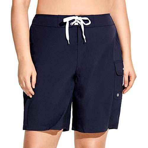 SYROKAN Sportieve shorts voor dames, groot, sneldrogend, met tas