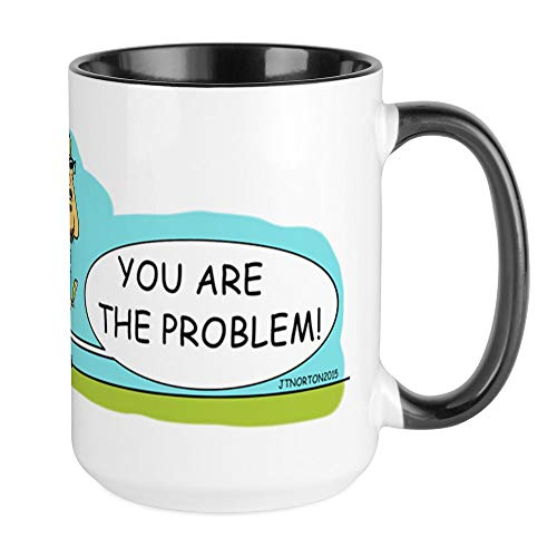 CafePress Problem Not Solved Mugs Coffee Mug, Large 15 oz. White Coffee Cup ()
