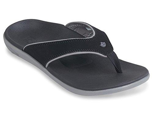 Spenco Yumi Plus - Womens Memory Foam Sandal Onyx - 6 Medium