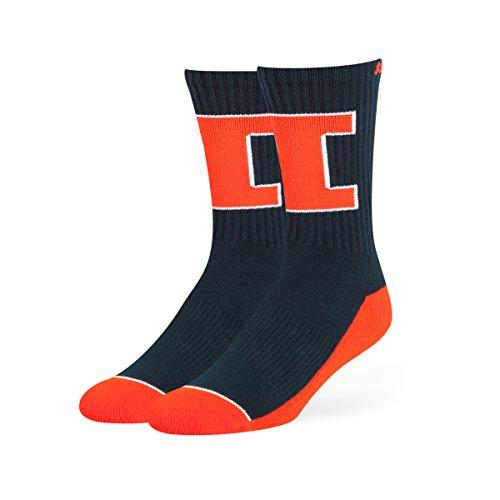 OTS NCAA Illinois Illini Anthem Sport Socks, Large, Navy