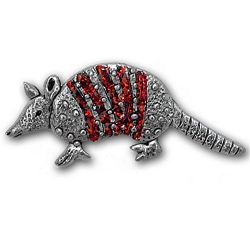 Enamel Sparkly Red Armadillo Pin by The Magic Zoo (Armadillo Costume)