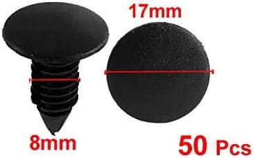 uxcell 50 Pcs Black Plastic Rivets for Car Fender