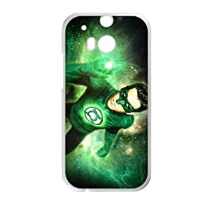 HTC One M8 Cell Phone Case White Green Lantern NF6046187