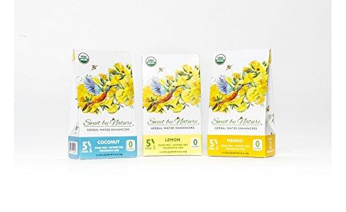Herbal Enhancer - Organic Herbal Water Flavor Enhancer - Sweet By Nature - Honeybush and Coconut - 5 Sticks