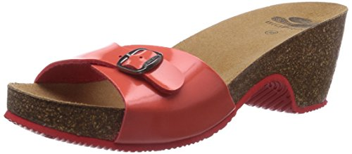 Scholl Kabe Coral, WoMen Wedge Heels Sandals Red (Coral)