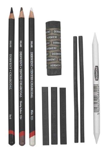 Derwent Charcoal Collection, Pack, 10 Count - Graphite Stick Derwent