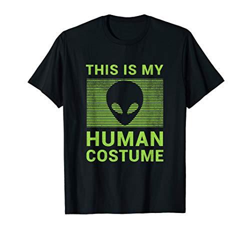Funny Alien Halloween Shirt Easy Costume Gift Idea ()