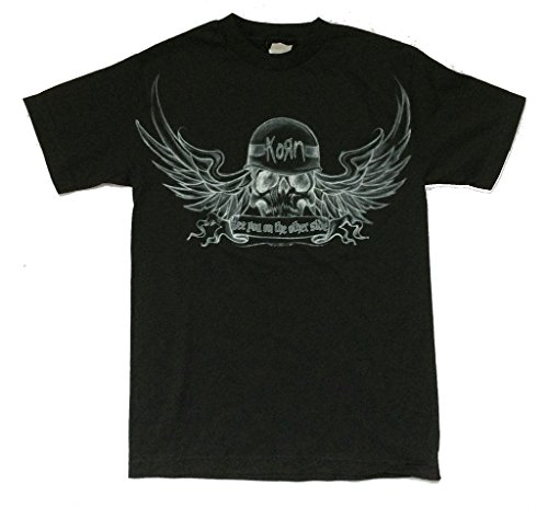 Winged Skull T-shirt - Korn Winged Skull See You On The Other Side Black T Shirt (XL)