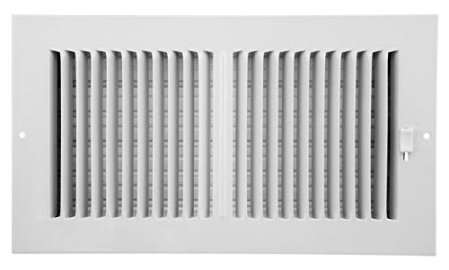 Accord AASWWH2126 Sidewall/Ceiling Register with 2-Way Aluminum Design, 12-Inch x 6-Inch(Duct Opening Measurements), White by Accord Ventilation