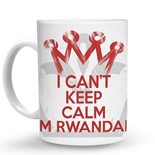 Makoroni - I CANT KEEP CALM I'M RWANDAN - 11 Oz. Unique COFFEE MUG, Coffee Cup