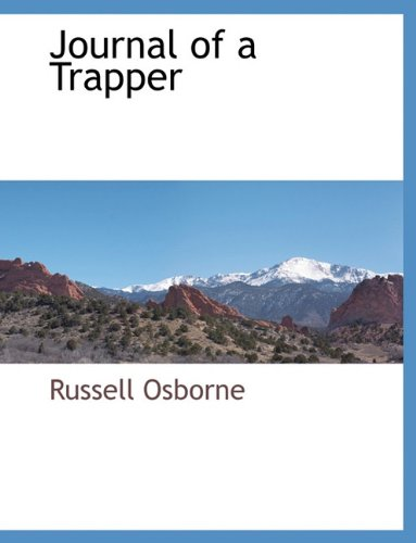 Download Journal of a Trapper PDF