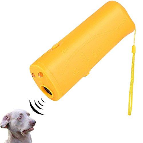 ICEVA Dog Repeller, Ultrasonic Dog Repeller 3 in 1 Portable Stop Barking, Anti Barking,LED Ultrasonic Handheld Dog Trainer Pet Training Device Outdoor Bark Controller Harmless for Training Dogs
