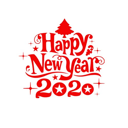 Vosarea Happy New Year Wall Sticker Removable 2020 New Year Wall Decals Window Clings Happy New Year Eve Christmas Party Decor New Year Party Supplies Favors