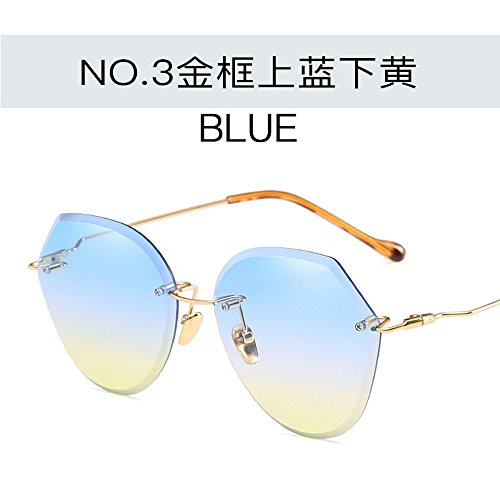 La Pc JUNHONGZHANG Gafas Las Gafas Océano Polvo Gafas De Playa De Gradiente Sol De De del De Playa Gafas Señoras La dorado De La marco el en De Azul amarillo Sol Púrpura Oro De Sol del Manera La En Marco del El Rqw4SRr