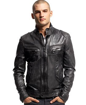 Mens Raging Black Leather Jacket UK XXXL: Amazon.co.uk: Clothing
