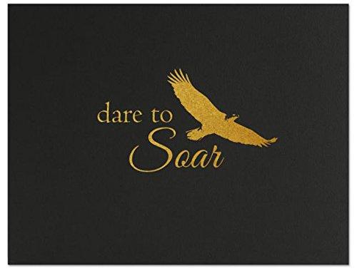 Successories 751547BK Dare to Soar Linen Certificate Folders, Black