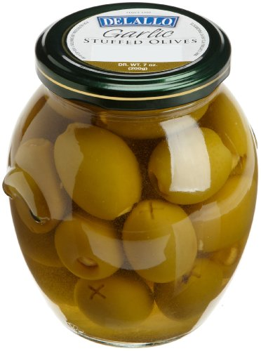- DeLallo Garlic Stuffed Olives, 7-Ounce Jars (Pack of 6)