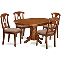 East West Furniture AVNA5-SBR-C 5-Piece Dining Table Set