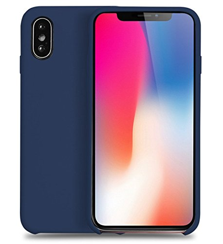 new products d3d6d d1fdf iPhone X Liquid Silicone Case (Blue Cobalt)