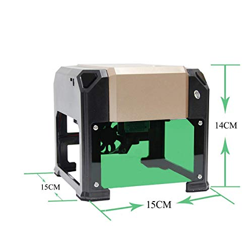 laser engraving machine Laser Engraver Printer 3000mW Mini desktop laser engraver machine DIY Logo laser engraver (3000mW) by NiocTech (Image #3)