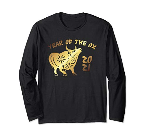 Year of the Ox Chinese Zodiac Calendar Long Sleeve T-Shirt