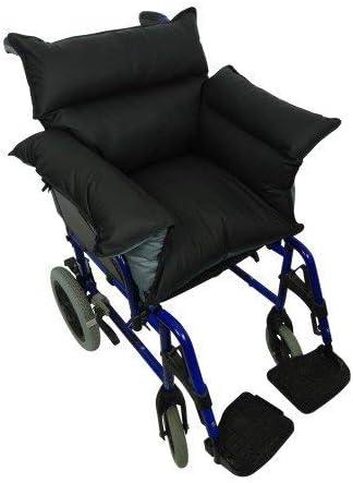 Queraltó - Cubresilla acolchado Saniluxe T/L para silla de ruedas   Cubre silla de ruedas reversible   Relleno de fibra   Impermeable, transpirable e ignífugo