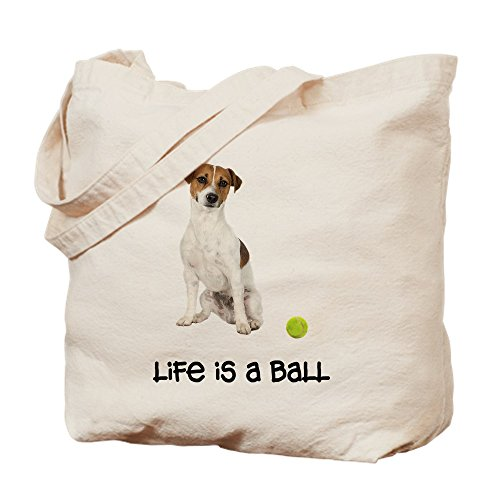 CafePress - Jack Russell Terrier Life - Natural Canvas Tote Bag, Cloth Shopping ()