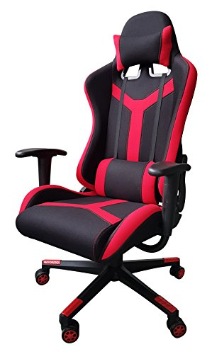41QbAT9SB3L - IDS Online Excecutive Modern Red Fabric Gaming Racing Office Chair