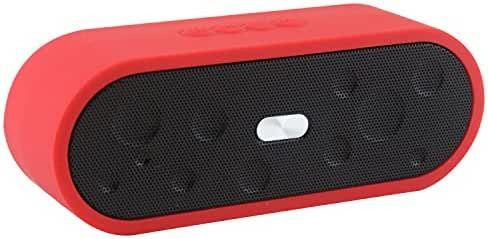 LB1 High Performance New Bluetooth Speaker for HP ENVY 700-210 Desktop with Beats Audio Portable Water Resistant Mini Wireless Music System Built-in Microphone Hand-free Wireless Speaker (Red)